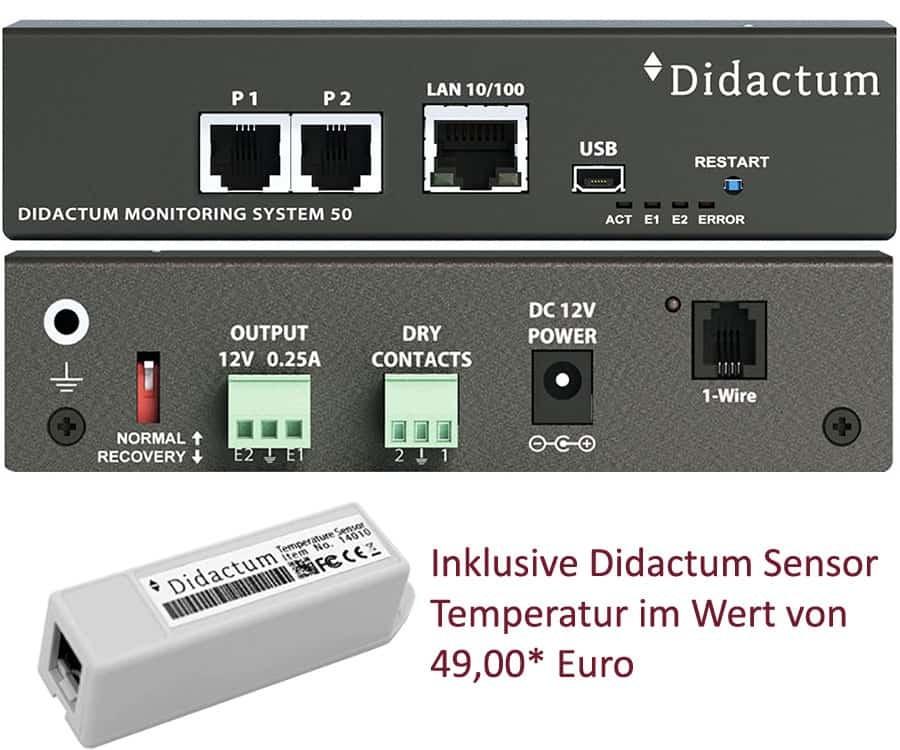 Didactum Monitoring System 50 inklusive Temperatur Sensor