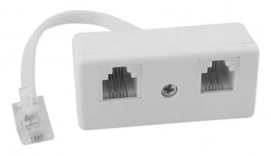 Splitter mit 2 Anschlüssen für 1-Wire Sensoren