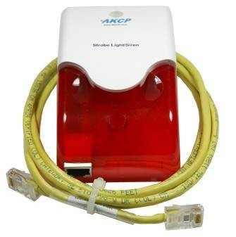 AKCP Alarm Sirene mit Stroboskop Blitzlicht