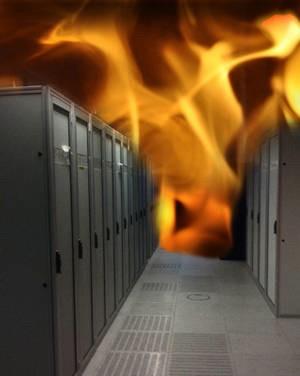 Serverraum-Rauch-Feuer-Alarm