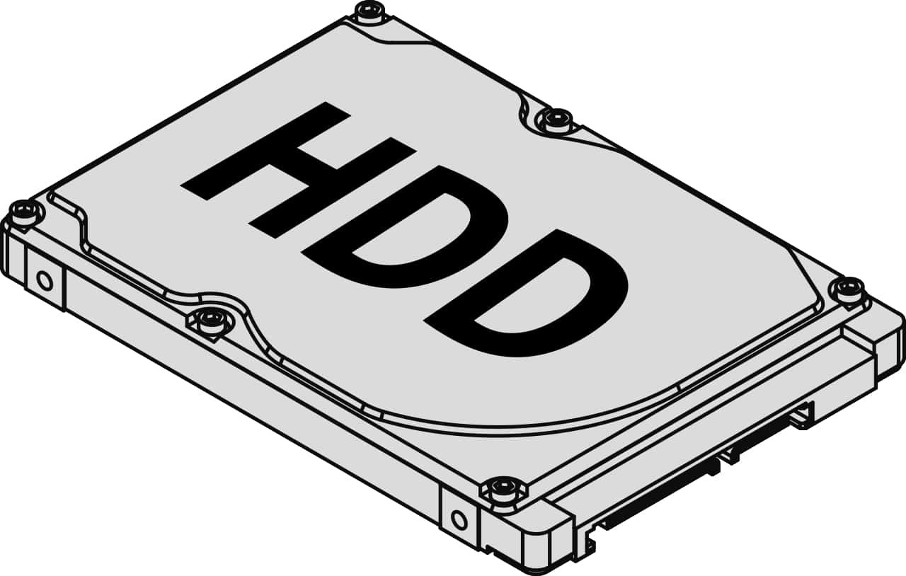 HDD for remote monitoring units 600/700 (DC)
