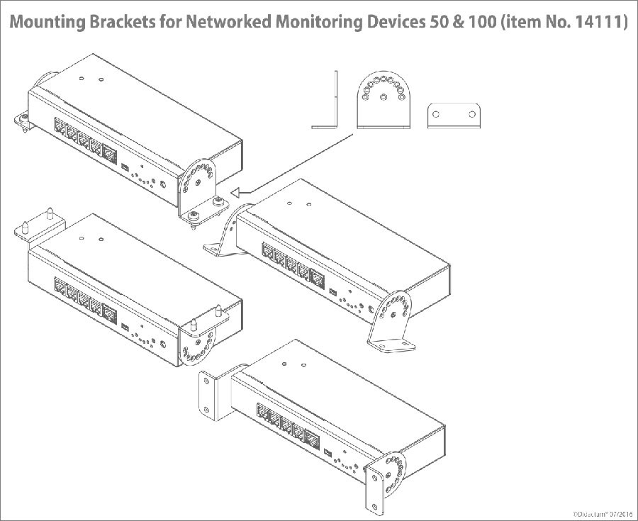 Mounting Brackets for Networked Monitoring Device